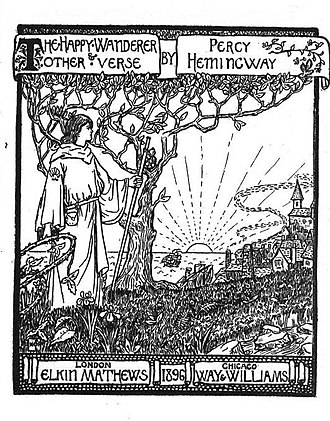 Percy Addleshaw - Title page from Happy Wanderer (1896)