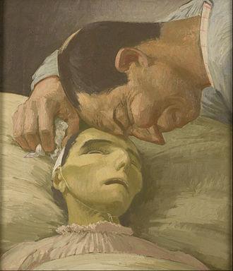 Henry Lamb - Image: Henry Lamb Death of a peasant Google Art Project
