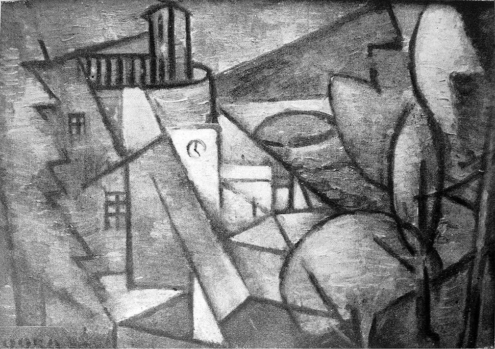 "Jean Metzinger, c.1912, Paysage (Landscape), location unknown. Reproduced in Du ""Cubisme"", 1912"