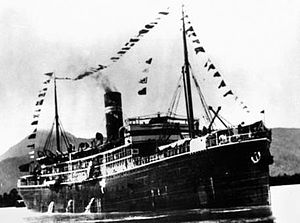 TSS Kanowna - A 1914 photograph of Kanowna in Cairns