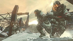 Killzone 3 - A screenshot showing the new Arctic environments of the game.