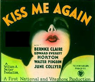 Kiss Me Again (1931 film) - Theatrical release poster