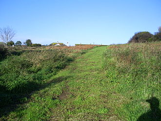 Lescudjack Hill Fort - The site of Lescudjack Hill Fort, Penzance, Cornwall looking northwest