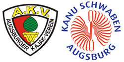 Logos of the two managing organizations of the Augsburg Eiskanal.png