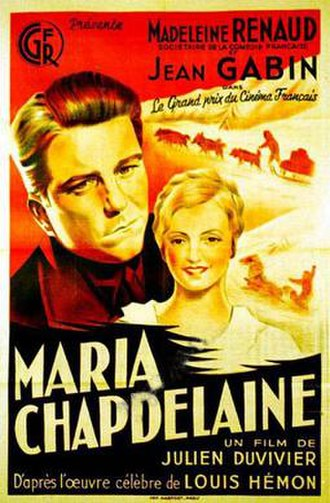 Maria Chapdelaine (1934 film) - Image: Maria Chapdelaine (1934 film)