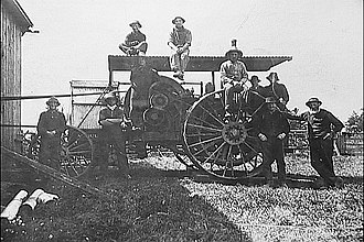 Woodbridge, Ontario - Hay Baler rental, due to the cost of farm equip most of it was rented out by a single owner who employed a team of workers that would come and work the equipment for any clients