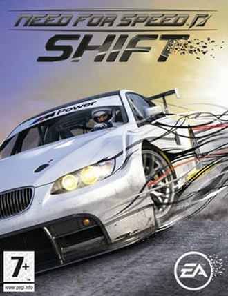 Need for Speed: Shift - Cover art with a BMW M3 E92 GT2