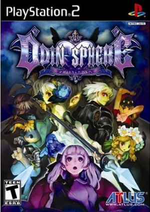 Odin Sphere - North American box art for Odin Sphere, showing the main cast and key supporting characters.