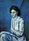 Pablo Picasso, 1901-02, Femme aux Bras Croises, Woman with Folded Arms (Madchenbildnis), oil on canvas, 81 x 58 cm (32 x 23 in).jpg