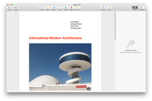 Pages 5 on OS X El Capitan