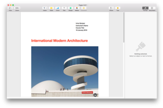 iWork Office suite of applications created by Apple Inc