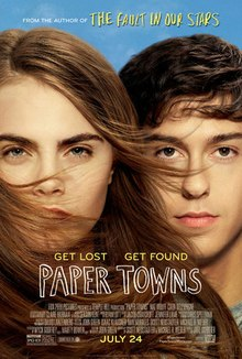 "Cara Delevingne and Nat Wolff as Margo Roth Spiegelman and Quentin ""Q"" Jacobsen respectively"