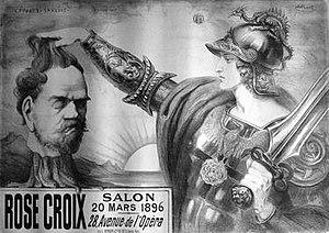 Salon de la Rose + Croix - Image: Poster for the fifth Salon de la Rose+Croix Point Sarluis