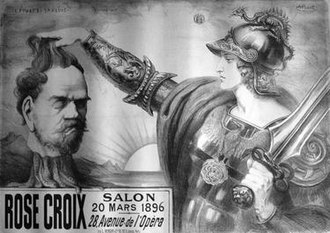 Salon de la Rose + Croix - Image: Poster for the fifth Salon de la Rose+Croix Point Sarluis