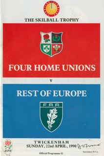 Four Home Unions v Rest of Europe