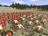 A battle in Rome: Total War
