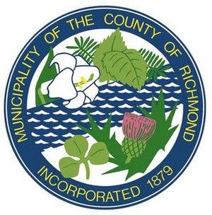 Richmond County, Nova Scotia - Image: Richmond County NS seal