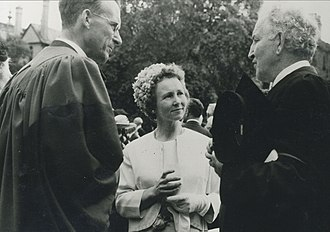 """G. B. Caird - The Cairds with Robert Graves (r.), author of """"I Claudius."""" Graves was Professor of Poetry at Oxford; Mollie Caird was an accomplished poet with two volumes of published verse to her credit"""