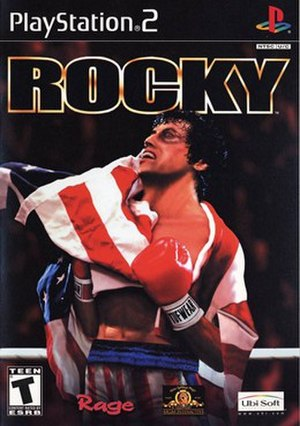 Rocky (2002 video game) - North American PS2 cover art