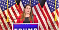 Ronna McDaniel supporting Donald Trump's 2020 campaign on November 9, 2020