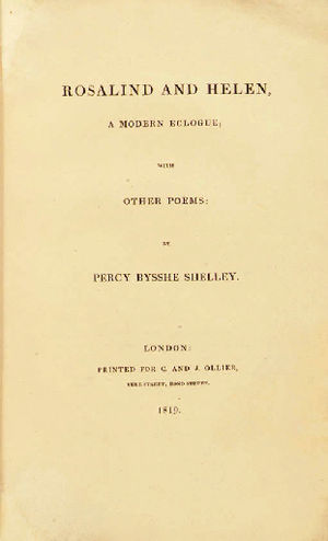 Rosalind and Helen - 1819 title page. C. and J. Ollier, London.