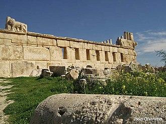 History of Jordan - An old Roman Temple in Iraq al-Amir