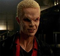 """Spike, displaying a typical """"vamp face."""""""