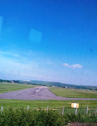 Brighton City Airport - View of Runway 02 from the West Coastway railway line.