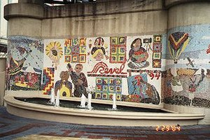 Red River Revel - Mosaic worked on by attendees of the festival in 1994