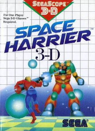 Space Harrier 3-D - US Cover art