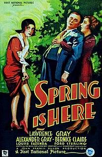 <i>Spring Is Here</i> (film) 1930 film