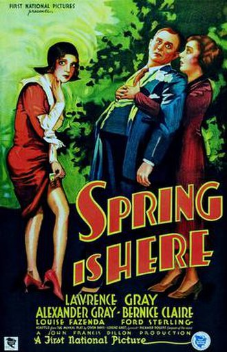 Spring Is Here (film) - Theatrical release poster