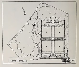 St. Mihiel American Cemetery and Memorial - Image: St Mihiel American Cemetery Site Plan