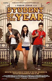Student Of The Year Hindi Movie Poster