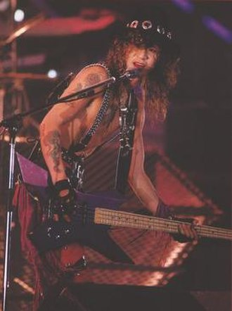 Taiji (musician) - Taiji performing with X circa 1990