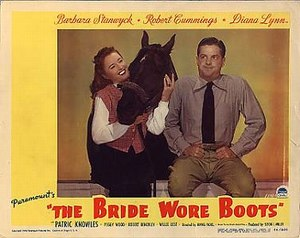 The Bride Wore Boots - Lobby card