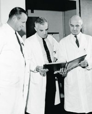 J. Hartwell Harrison - Left to right - Drs. Harrison, Merrill, Murray