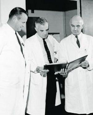 J. Hartwell Harrison - Left to right - Drs. Harrison, Merrill, Murray