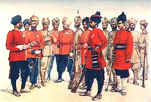 93rd Burma Infantry - Image: Types of Punjabi Regiments 1910