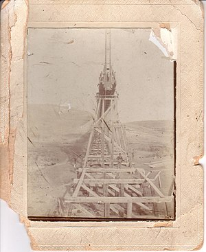 Hi-Line Railroad Bridge - Image: View East On High Bridge 1907M