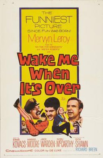 Wake Me When It's Over (film) - Image: Wake Me When It's Over Film Poster