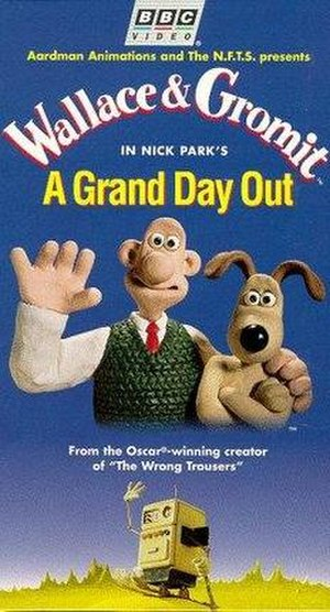 A Grand Day Out - Original cover art of the A Grand Day Out VHS. (United States)