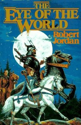 The Eye of the World - Original cover of The Eye of the World, prominently featuring Moiraine and Lan