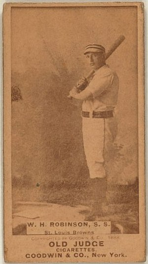 Yank Robinson - Old Judge baseball card of Robinson