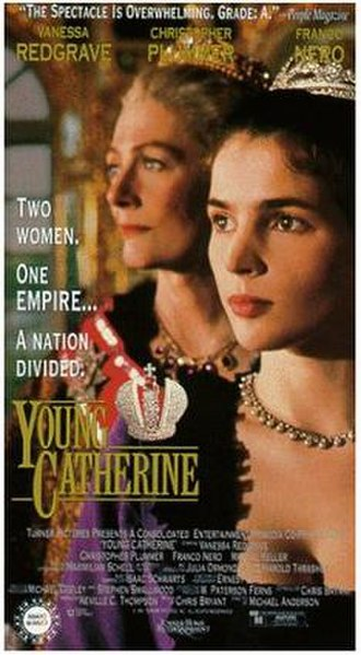 Young Catherine - VHS cover, featuring Vanessa Redgrave and Julia Ormond