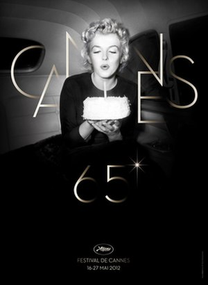 2012 Cannes Film Festival - Official poster of the 65th Cannes Film Festival featuring a photo of American actress Marilyn Monroe