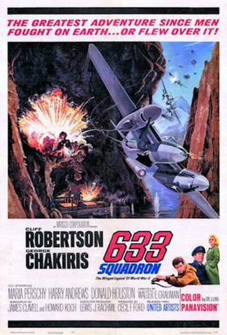 633 Squadron - Theatrical release poster