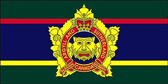 The Argyll and Sutherland Highlanders of Canada (Princess Louise's) - The camp flag of The Argyll and Sutherland Highlanders of Canada (Princess Louise's).