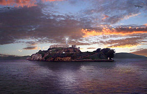 Alcatraz Island Light - Alcatraz Light at sunset