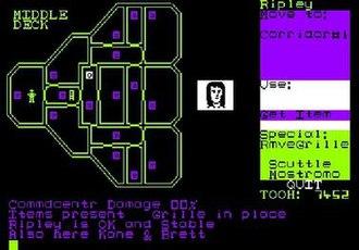Alien (1984 video game) - Image: Alien CPC